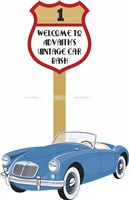 Vintage Car Party Supplies theme Entrance Cutout