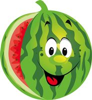 Watermelon theme - Smiling Watermelon Poster