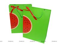 Stickered gift bags - Watermelon theme birthday party supplies | One in a melon