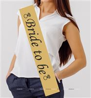 Bride to Be Sash Gold