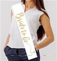 Bride to Be Sash White
