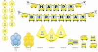 Party kits - Wheels on a bus birthday party supplies | School Bus theme