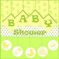 Baby Shower Green and Yellow Backdrop - Yellow Baby Shower