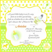 Yellow Baby Shower theme Yellow Rectangular Invite