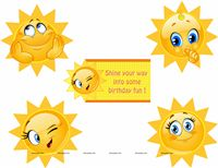 My Sunshine theme Posters pack of 5